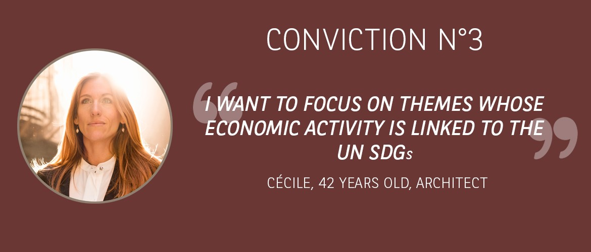 Conviction 3 : I want to focus on themes whose economic activity is linked to the UN SDGs