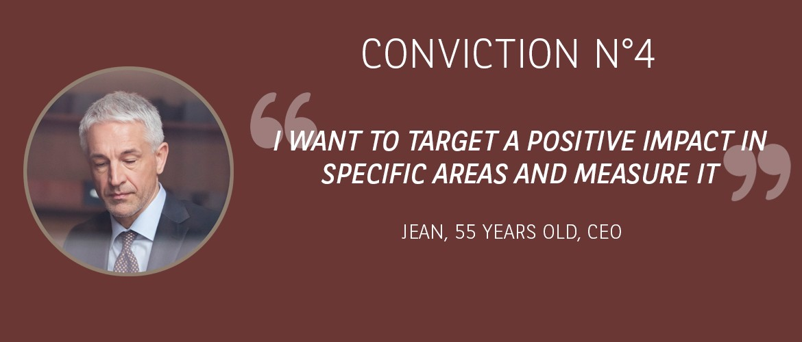 Conviction 4 : I wish to target a positive impact in specific areas and measure it